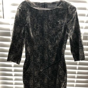 NWT MM LeFluer black 3/4 sleeve dress